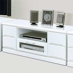 テレビ台 リビングボード 幅120cm 完成品 ローボード 鏡面 光沢 ホワイト 白 収納 木製 テレビボード|taiho-kagu