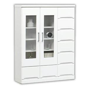 本棚 リビングボード リビングボード 完成品 扉 幅90cm 鏡面|taiho-kagu