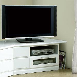 コーナーテレビ台 リビングボード 幅100cm 完成品 ローボード 鏡面 光沢 ホワイト 白 収納 木製 テレビボード|taiho-kagu