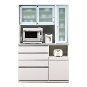 食器棚 レンジ台 引き戸 完成品 幅130cm ベージュ|taiho-kagu