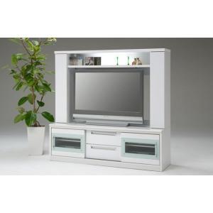 ハイタイプ テレビボード リビングボード 国産 155cm ステルス(ホワイト/白)|taiho-kagu