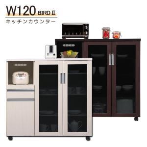 幅120cm 間仕切りストッカー カウンターワゴン オーブン台 背面合板 台所棚 キッチンボード 間仕切り 背面化粧仕上げ 完成品 キッチン収納 木製|taiho-kagu