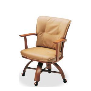 ダイニングチェア 単品 回転チェア キャスター付き 回転椅子 肘掛け モダン ナチュラル 木製 PVC|taiho-kagu