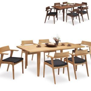 ダイニングテーブルセット 6人掛け 7点セット ダイニングセット 6人用 食卓テーブルセット 北欧 ウォルナット無垢 アッシュ無垢 taiho-kagu
