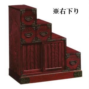 【商品コード:3040081000】  【商品名】83cm 階段箪笥 引き戸付き【右下り】  【商品...