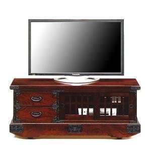 民芸箪笥 和たんす 和風 120cm 車箪笥テレビボード(引き戸) 吉野民芸 taiho-kagu