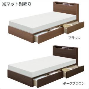 ベッド セミダブルベッド 引き出し収納 木製 ベッドフレーム セミダブル 宮付き LEDライト コンセント|taiho-kagu