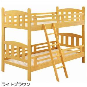 2段ベッド 二段ベッド 子供用ベッド ライトブラウン パイン無垢 木製|taiho-kagu