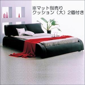 ベッド ダブルベッド レザーベッド 合成皮革 PVC ベッドフレーム|taiho-kagu