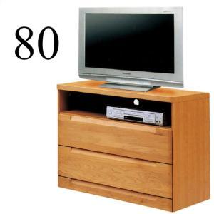 テレビ台 リビングボード テレビチェスト 幅80cm ミドルタイプ 完成品 木製 taiho-kagu
