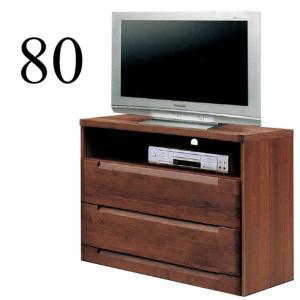 テレビボード テレビ台 完成品 幅80cm ミドルタイプ 木製 リビングボード 収納 taiho-kagu