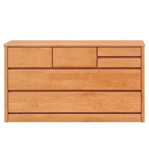 ローチェスト 完成品 幅120cm 3段 収納タンス 木製 アルダー無垢 ナチュラル|taiho-kagu