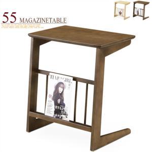 サイドテーブル ソファサイド 収納棚付き 幅55cm 木製 おしゃれ 北欧 天然木オーク突板 ナイトテーブル|taiho-kagu