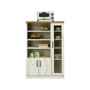 キッチンラック キャビネット 食器棚 幅80cm 完成品 キッチン収納 木製 おしゃれ|taiho-kagu