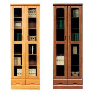 本棚 書棚 完成品 幅60cm リビングボード ガラス扉 木製 ハイタイプ 引き出し収納 日本製|taiho-kagu