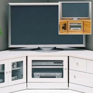 コーナーテレビボード コーナーのみ 完成品 幅75cm ナチュラル ホワイト 白 日本製|taiho-kagu