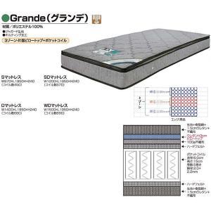 ワイドダブル マットレス 両面ピロ付き グランデ|taiho-kagu