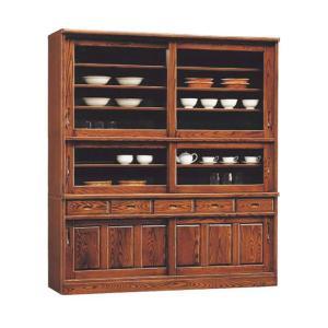 食器棚 幅180cm 和 和風 水屋 昔風 キッチンボード ダイニングボード 木製 無垢 国産 大川家具 食器収納 カップボード taiho-kagu