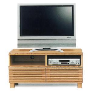 テレビ台 ローボード 完成品 幅100cm タモ無垢 リビング収納 格子 木製 和モダン ロータイプ|taiho-kagu
