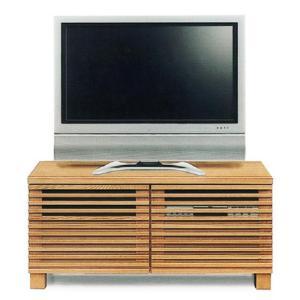 テレビボード ローボード 完成品 幅100cm タモ無垢 リビング収納 格子 和モダン ロータイプ|taiho-kagu