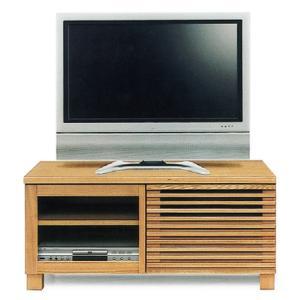 テレビ台 完成品 ローボード 幅100cm タモ無垢 リビング収納 格子 木製 和モダン ロータイプ|taiho-kagu