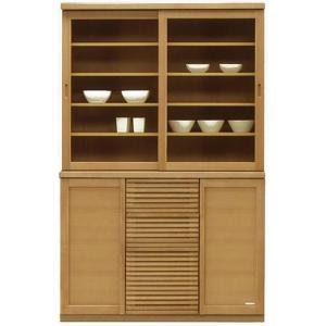 食器棚 引き戸 和風 完成品 幅120cm キッチン収納  カップボード 日本製|taiho-kagu