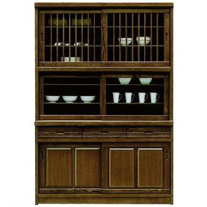 食器棚 完成品 幅133cm 引き戸 和 和風 キッチンボード 木製 収納家具|taiho-kagu