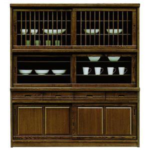 食器棚 完成品 幅170cm 引き戸 和 和風 キッチンボード 木製 収納家具 大型 大容量 taiho-kagu
