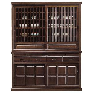 食器棚 幅150cm 完成品 引き戸 キッチンボード 格子扉 収納 タモ 和風モダン 大容量 大型 taiho-kagu