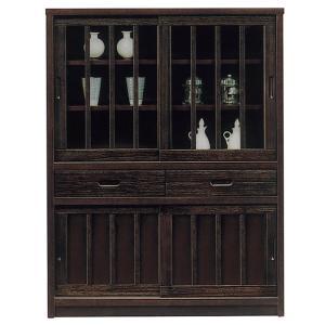 キャビネット 和風 完成品 幅90cm 引き戸 リビング収納 サイドボード 食器棚 飾り棚 日本製 taiho-kagu