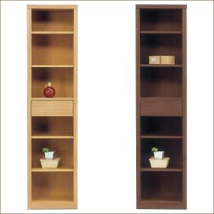 ラック シェルフ 完成品 幅45cm 本棚 木製 タモ ハイタイプ 日本製 スリム|taiho-kagu
