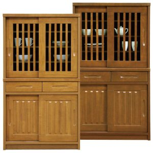 食器棚 完成品 和風 引き戸 幅90cm taiho-kagu