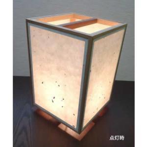 角行灯 行燈 あんどん SWサイズ 手漉楮和紙 松皮紙|taiho-kagu
