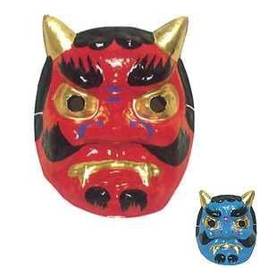 赤鬼・青鬼 紙面 お面 祭・踊り用 -お取り寄せ商品-|taiko-center