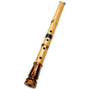 尺八 (しゃくはち) 1尺8寸管 合竹製 基準音:D 蝴蝶宝