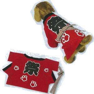 ペット半天 シルクプリント 犬印 はんてん 半纏 袢纏 半被 法被 はっぴ|taiko-center