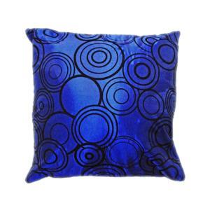 クッションカバー 45×45cm 対応 絹 おみやげ アジアン 海外 雑貨 / タイ シルク クッション カバー リング デザイン ブルー 青|taikokuya