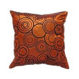 クッションカバー 45×45cm 対応 絹 おみやげ アジアン 海外 雑貨 / タイ シルク クッション カバー リング デザイン ブロンズ 銅|taikokuya