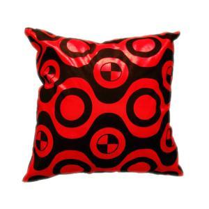 クッションカバー 45×45cm 対応 絹 おみやげ アジアン 雑貨 / タイ シルク クッション カバー チェッカー デザイン レッド 赤|taikokuya