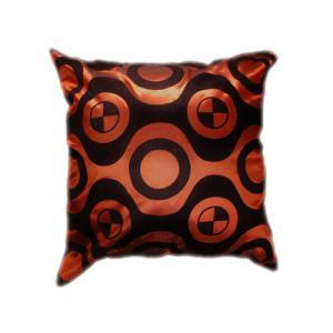 クッションカバー 45×45cm 対応 絹 おみやげ アジアン 海外 雑貨 / タイ シルク クッション カバー チェッカー デザイン ブロンズ 銅|taikokuya