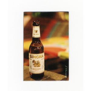 シンハー ビール マグネット type B1 (瓶ビール×縦タイプ) - タイ雑貨 アジアン 輸入雑貨  旅行 グッズ 海外 お土産 おみやげ -