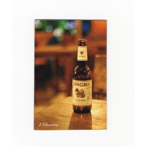 シンハー ビール マグネット type B2 (瓶ビール×縦タイプ) - タイ雑貨 アジアン 輸入雑貨  旅行 グッズ 海外 お土産 おみやげ -