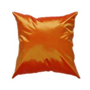 クッションカバー 45×45cm 対応 オレンジ タイ シルク 絹 無地 おみやげ 雑貨 / 121006023 taikokuya