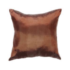 クッションカバー 45×45cm 対応 ブラウン 茶色 タイ シルク 絹 無地 おみやげ 雑貨 / 121006029 taikokuya