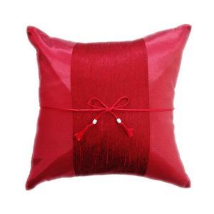 クッションカバー 40×40cm アジアン おみやげ 雑貨 / タイランド クッション カバー チェンマイ デザイン レッド 赤|taikokuya