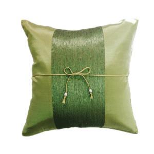 クッションカバー 40×40cm アジアン おみやげ 雑貨 / タイランド クッション カバー チェンマイ デザイン グリーン 緑|taikokuya