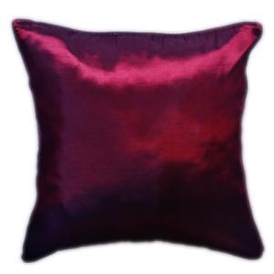 クッションカバー 45×45cm 対応 ルビー レッド 赤 タイ シルク 絹 無地 おみやげ 雑貨 / 130915042 taikokuya