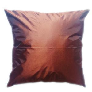 クッションカバー 45×45cm 対応 チョコレート・カラー タイシルク 絹 無地 おみやげ 雑貨 / 130915046 taikokuya