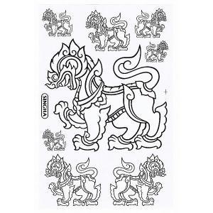 シンハービール 『SINGHA BEER』 ステッカー (ホワイト White) Lサイズ - タイ雑貨 アジアン 雑貨 スーツケース トランク 旅行 グッズ 海外-