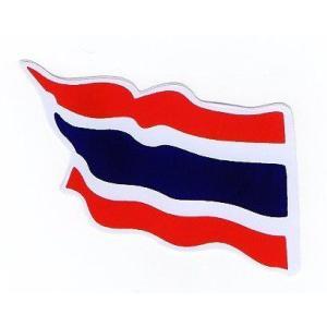 ステッカー タイ 雑貨 アジアン シール / タイ王国 国旗 ステッカー(THAI) M サイズ t-G / おみやげ 旅行 taikokuya